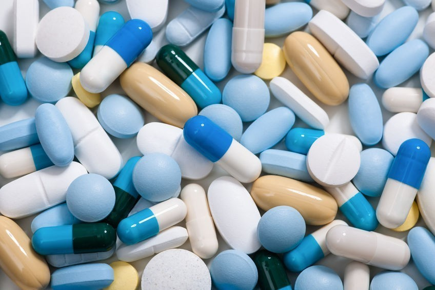 variety of pills and medications