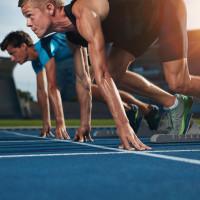 sprinter on their mark ready to run