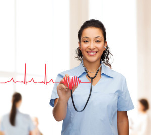 nurse-heart-image-stock