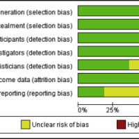 Risk of bias assessment of the included randomized controlled trials using the Cochrane Risk of Bias Tool.
