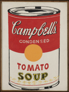 Andy Warhol, Campbell's Soup Can, 1961. Art Museum St. Gallen, Switzerland. Gift of Erna und Curt Burgauer 1987. Inventory number: G 1987.35.